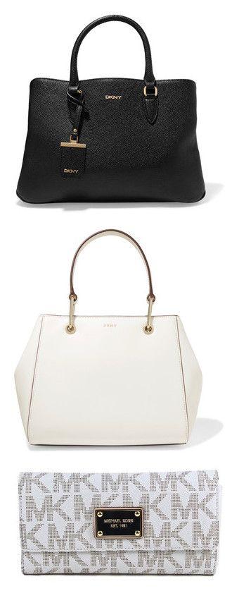 """bags, backpacks, MCM,Wallets"" by briyannaelainhoy on Polyvore featuring bags, handbags, tote bags, black, tote hand bags, zip tote, zip purse, dkny handbags, handbags tote bags and purses"