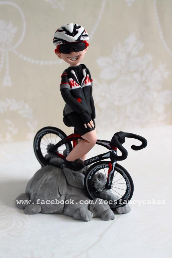 Cyclist - Cake by Zoe's Fancy Cakes