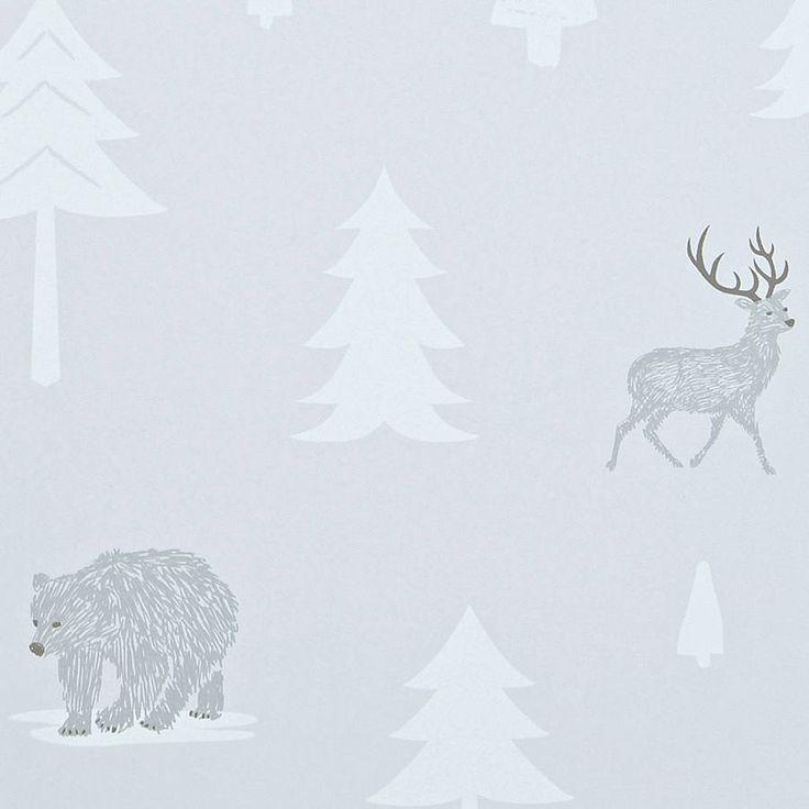 Into The Wild Wallpaper In Stone/Arctic White