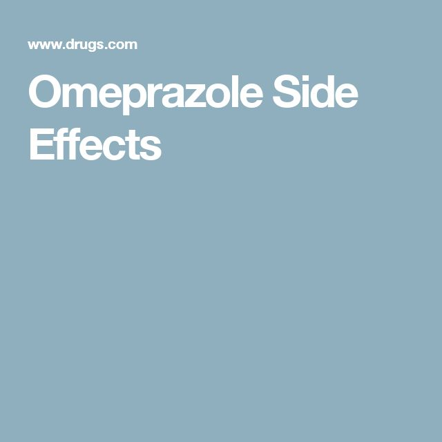 Omeprazole Side Effects