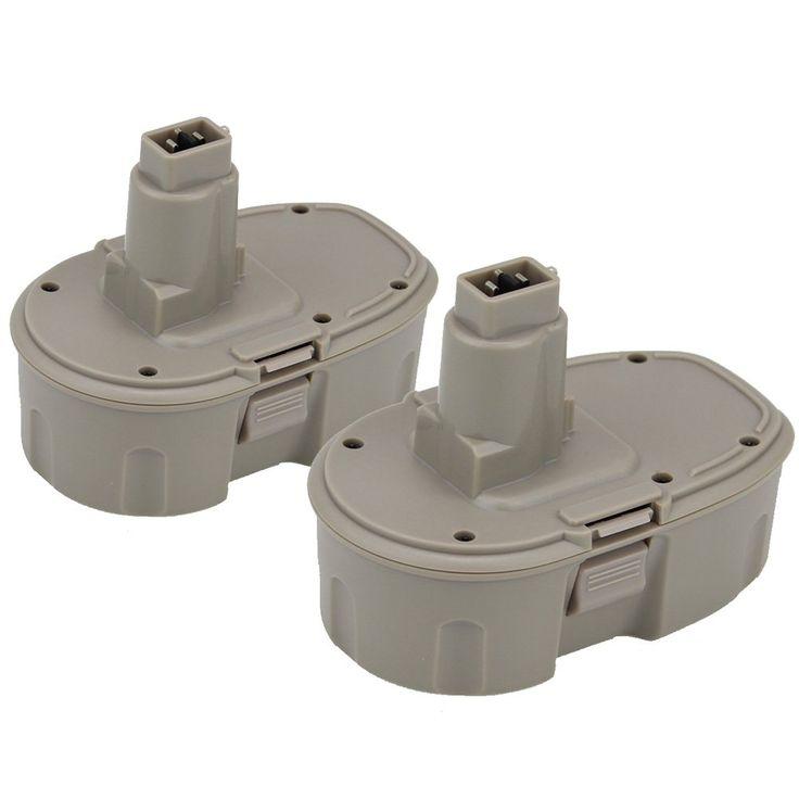 Topbatt 2Packs 18V 3.0Ah NI-MH Replacement Battery for Dewalt Cordless Tools DC9096 DE9039 DE9095 DE9096 DE9098 DW9095 DW9096 DW9098 DE9503