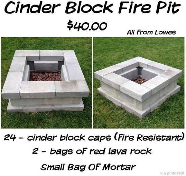 Cinder Block Fire Pit + more projects by Raelynn8