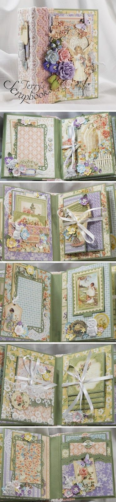 Terry's Scrapbooks: Graphic 45 Secret Garden Mini Album Reneabouquets Design Team Project