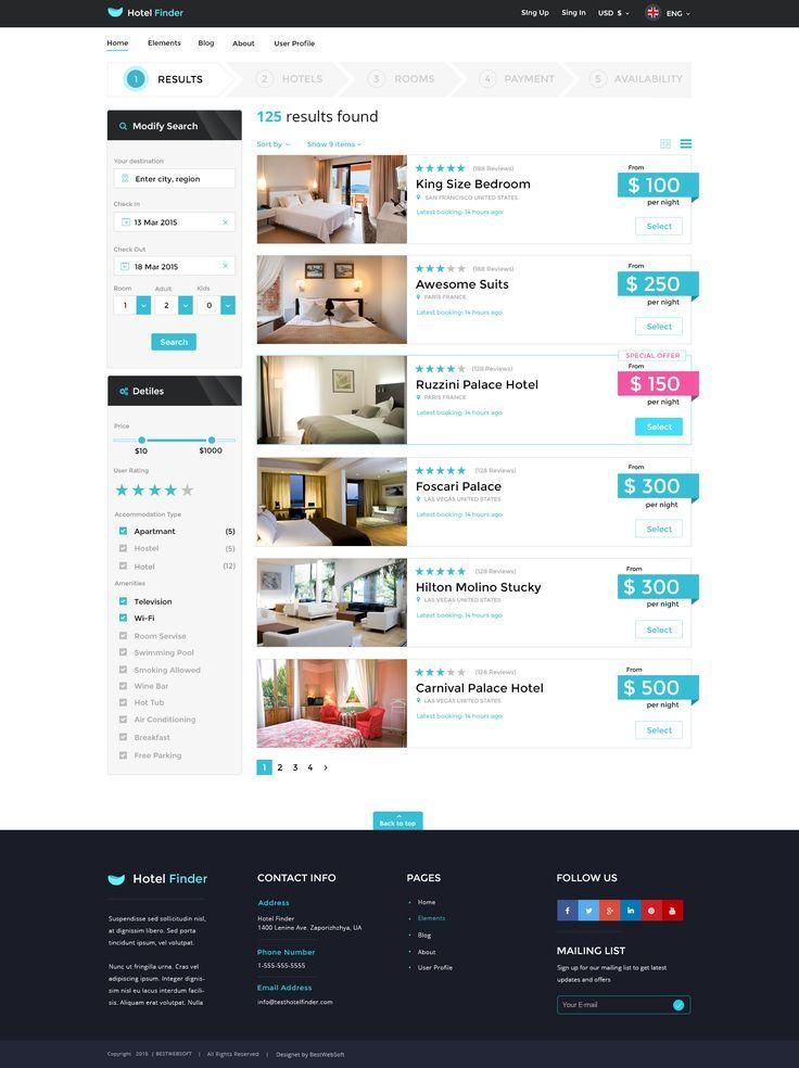Resort Finder On Line Reserving Html Web Site Template