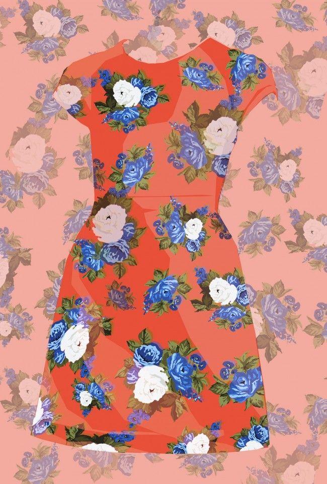 MSGM floral scuba dress
