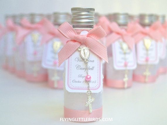 Baptism Favors Mini Bottle designed for Holy Water Baptism