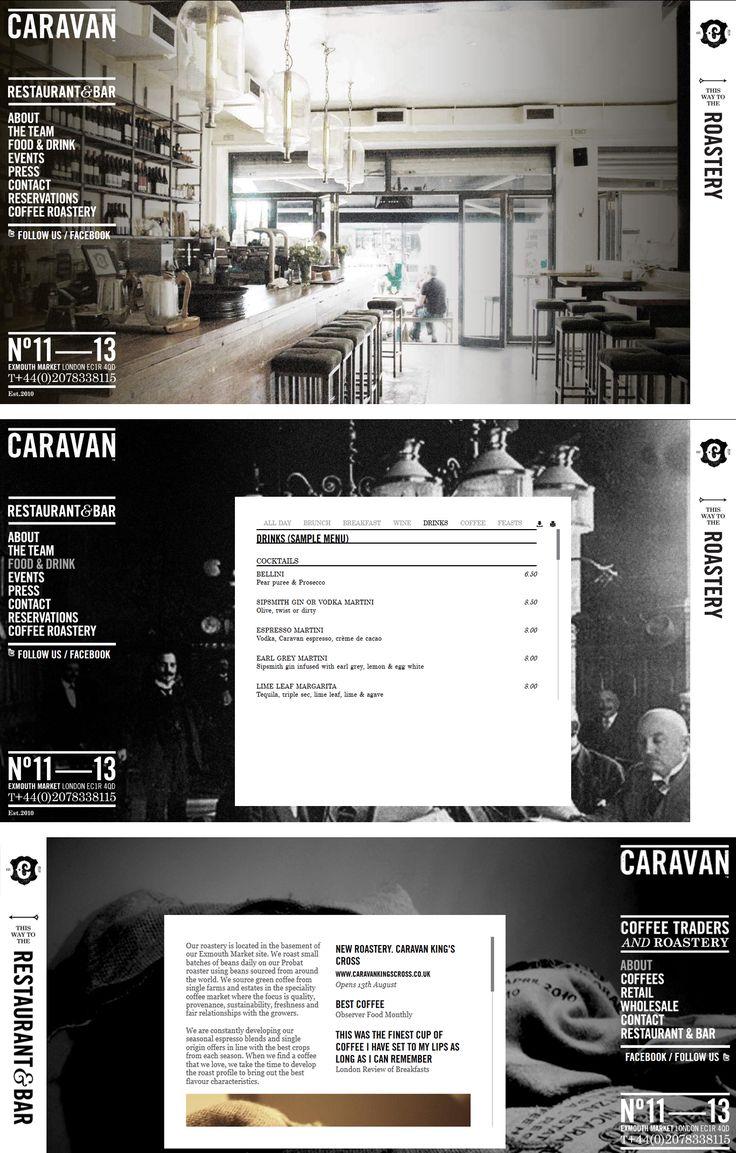 Caravan Restaurant and bar website