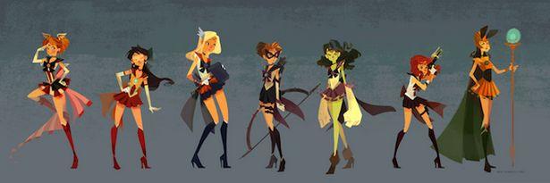 The Avengers como personajes de Sailor Moon on http://www.dotpod.com.ar