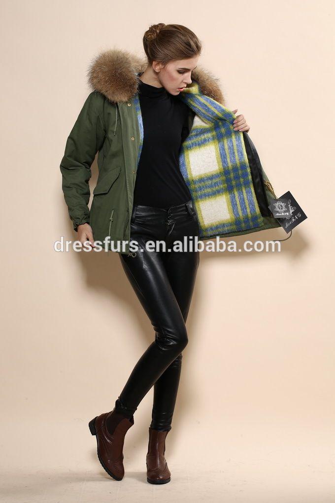 Mr or Mrs parka cheap fur coats, unisex style parka