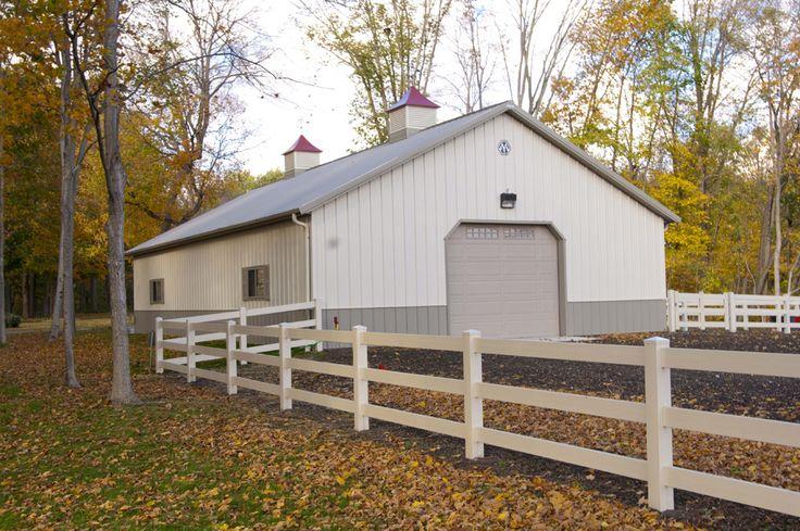 Morton buildings horse barn in illinois equestrian for Horse barn materials