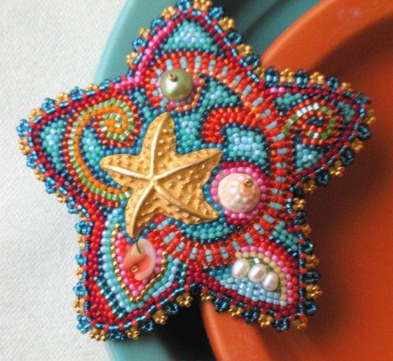 Starfish Treasure Pin by thistledew4u on Etsy