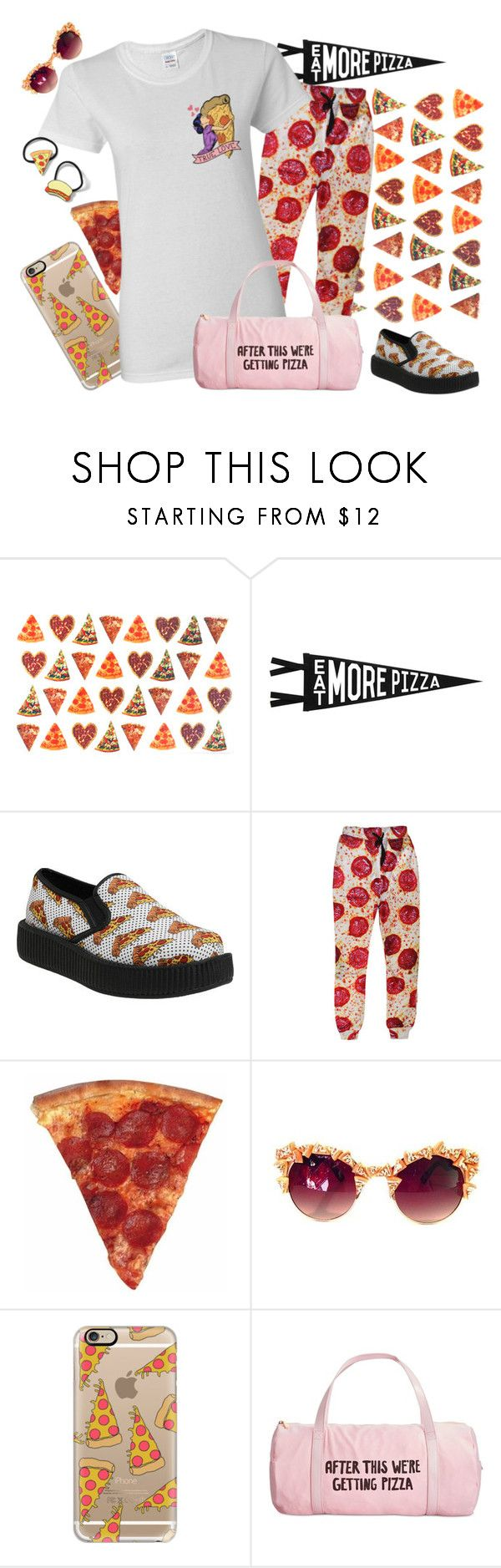 """""""pizza"""" by htotheizzyclothing on Polyvore featuring Trixxie, Three Potato Four, Casetify, ban.do, Topshop, love and pizza"""