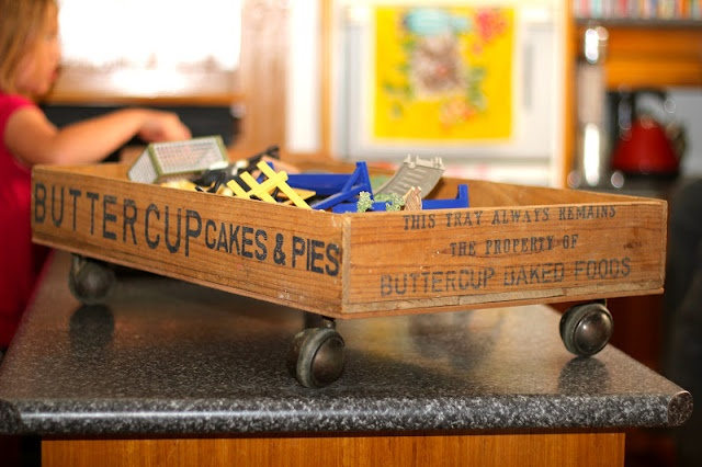 Picket Fence Fancy: A Wheeled Industrial Toy Box for tiny toys, legos or games