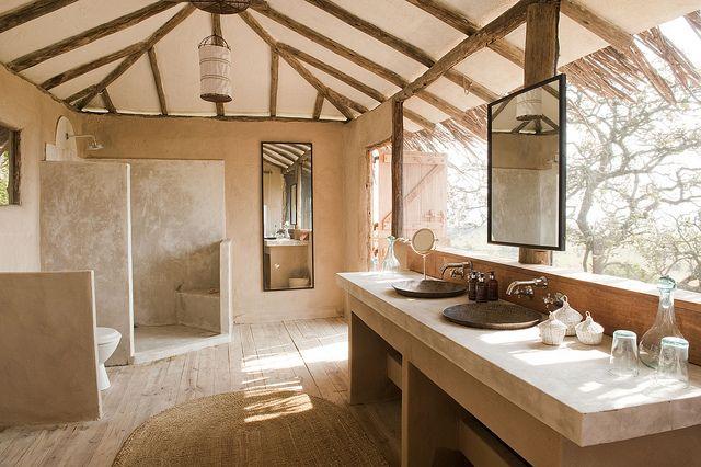 Lamai Serengeti bathroom by Nomad Tanzania InHouse Library, via Flickr