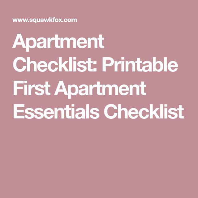 Best  First Apartment Checklist Ideas On   First