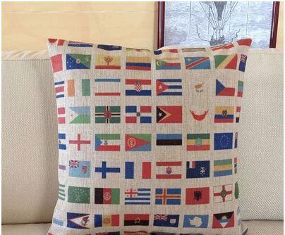 Во всем мире национальный флаг коллекция подушки чехол стул диван красочные чехол дети белье хлопок домашнего декора