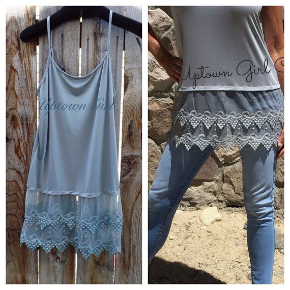 I am IN LOVE with this shirt extender!  Lace Cami Tank Shirt Extender, Top…