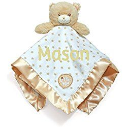 Kids Preferred Personalized Little Me Brown Bear Blanky Blanket - 14 Inches