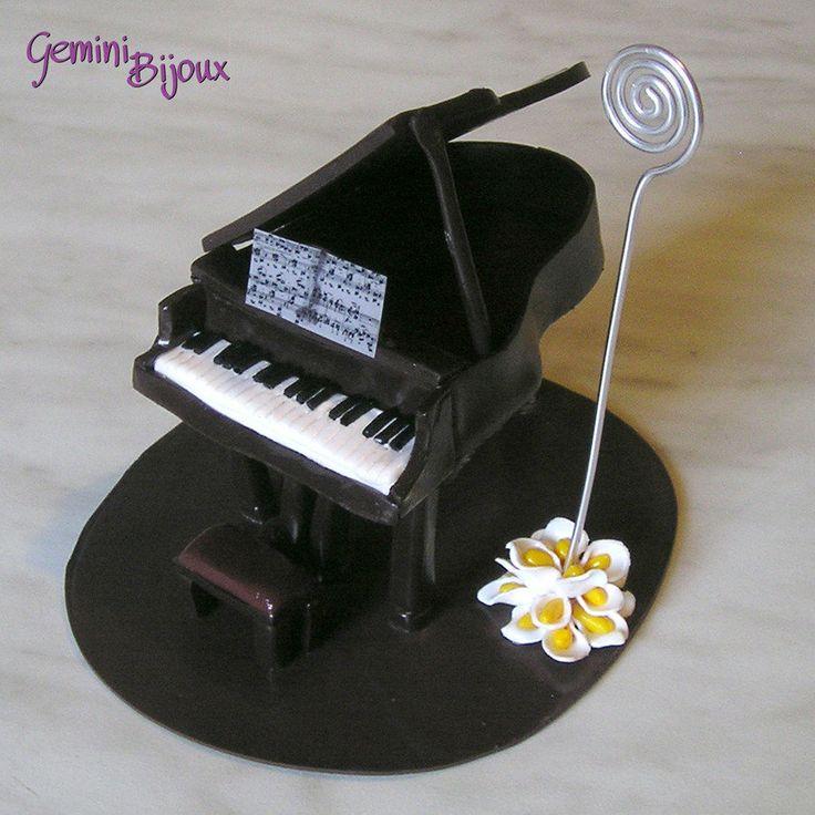 Pianoforte a coda in fimo segnaposto per matrimoni, by Gemini Bijoux, 15,00 € su misshobby.com