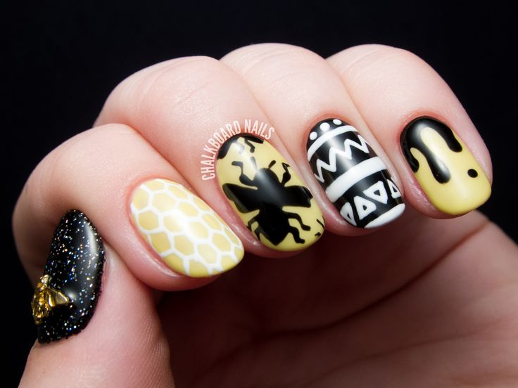 30 best bees images on pinterest bumble bee nails busy bee freehand gel nail art for cosmoprof 2014 prinsesfo Choice Image