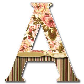 Alfabeto victoriano. Victorian alphabet. Letra A. Vocal.