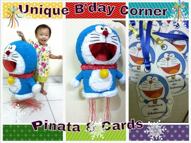 pinata and bday cards doraemon