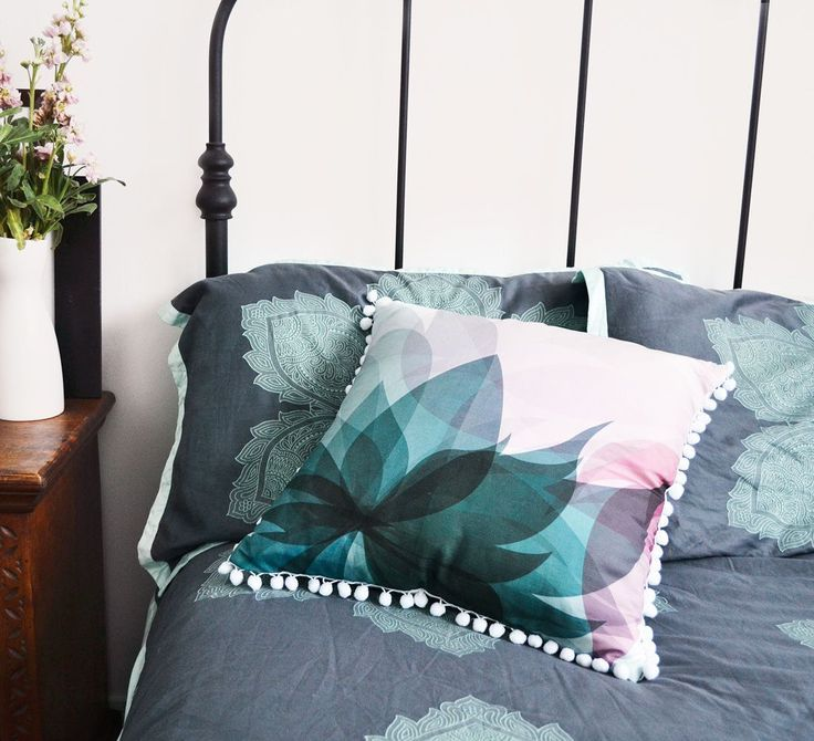 My luscious blossom throw pillow adds instant girly style!