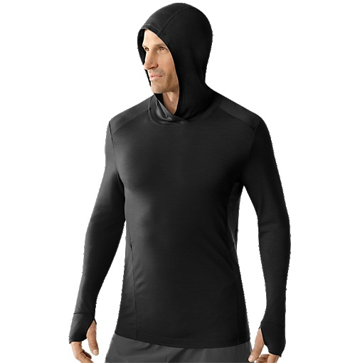 Merino Wool Men's Teller Hoody.  Wool is a great material for any back country adventure.  A super versatile shirt that will be a perfect addition to any layering system.
