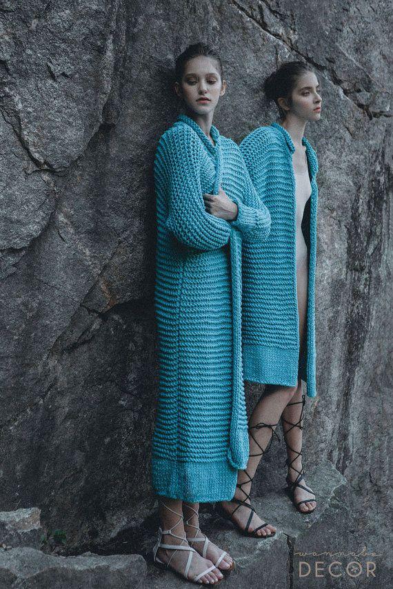 Cardigan pesante, maglione di lana accogliente, accogliente lunghezze Maxi maglieria