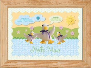 'Hello Duckie' name picture for children  This 'quacking' little name picture would be a great gift for any little tot who loves feeding the ducks! It's also a great spring time birthday gift.  This super cute children's name picture is a great gift for your little 'duckie'. Children love to see their own name in print and this will help them begin to recognise it. You can personalise this picture with your child's name and two unique messages. A4 PRINT ONLY £16.50