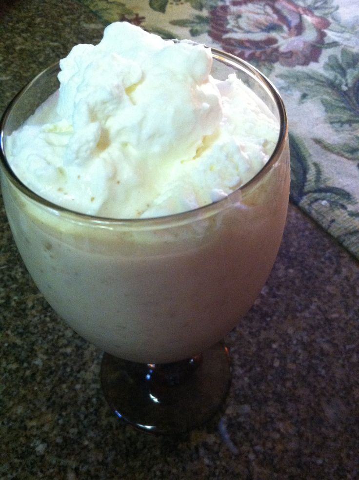 Cheesecake Fat Stripping Frappe' (S) 1/4 Cup Half & Half 1 oz. Lite Cream Cheese 1 cup Unsweetened Almond Milk  ¼ tsp. Vanilla Extract;  2 Tbsp. Flax Meal ½ tsp Gluccie  4 packets Truvia; ½  a scoop of plan approved protein powder.  Mix everything together well, and then add ice and a little water to your 2 cup mark.  Mix again, until thickened. Top with a dollop of homemade sugar free whipped cream.