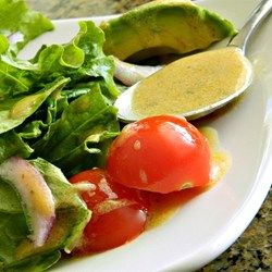 The Best Lemon Vinaigrette - Allrecipes.com   --- Subbed white vinegar for red (out of red). Halved the dried oregano, and added half a tsp of basil instead. Added a touch of honey. Tastes similar to Kona Brewing Company dressing on their quinoa arugula salad.