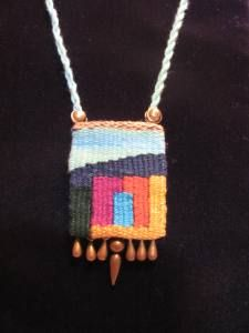 handwoven tapestry pendant