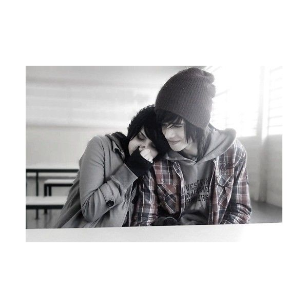 cute scene couple | Tumblr ❤ liked on Polyvore featuring couples, people, love, pictures and backgrounds