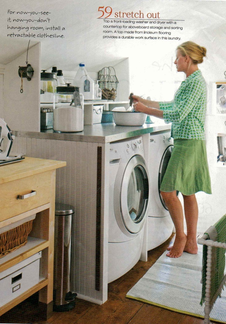 Countertop washer and dryer crafts pinterest for Laundry room countertop over washer and dryer