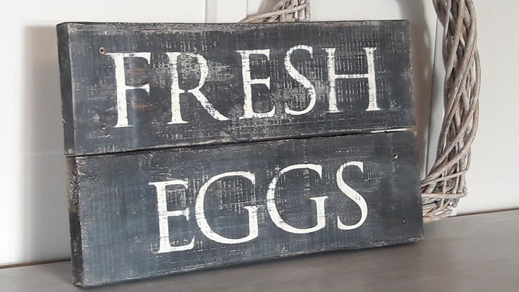 Fresh Eggs Rustic sign from French Pear designs on FB
