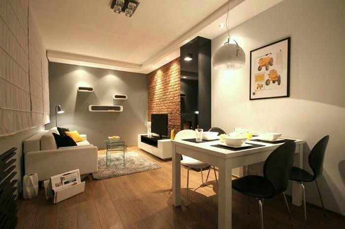 Aranżacja / projekt salonu z jadalnią wystrój nowoczesny w kolorach biel, szary http://www.homplex.pl/aranzacje/salonow-z-jadalnia/aranzacja-salon-z-jadalnia-biel-nowoczesny-szary-przytulnie-9114296.htm