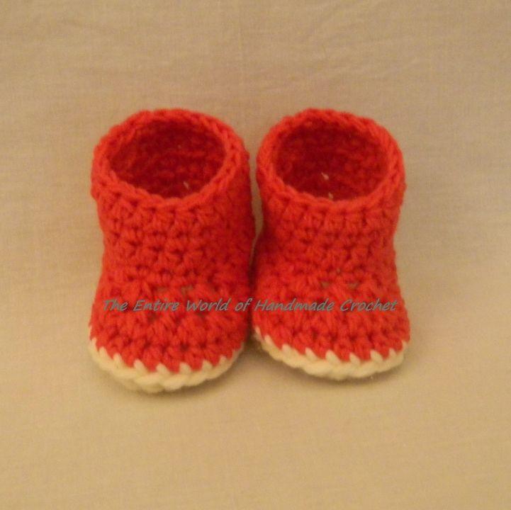 12€. Handmade Crochet Baby Girl's Booties. Ready to ship.The Entire World of Handmade Crochet.