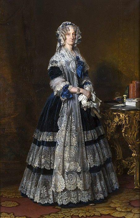Мария-Амалия де Бурбон, королева Франции. Франц Ксавьер Винтерхальтер. Описание картины, скачать репродукцию.