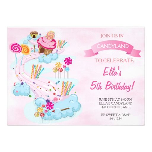 398 best Candyland Birthday Party Invitations images on Pinterest - best of invitation birthday party text