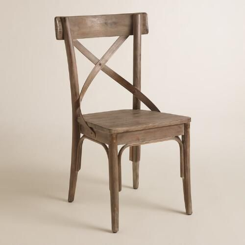 One of my favorite discoveries at WorldMarket.com: Graywash French Bistro Dining Chairs Set of 2