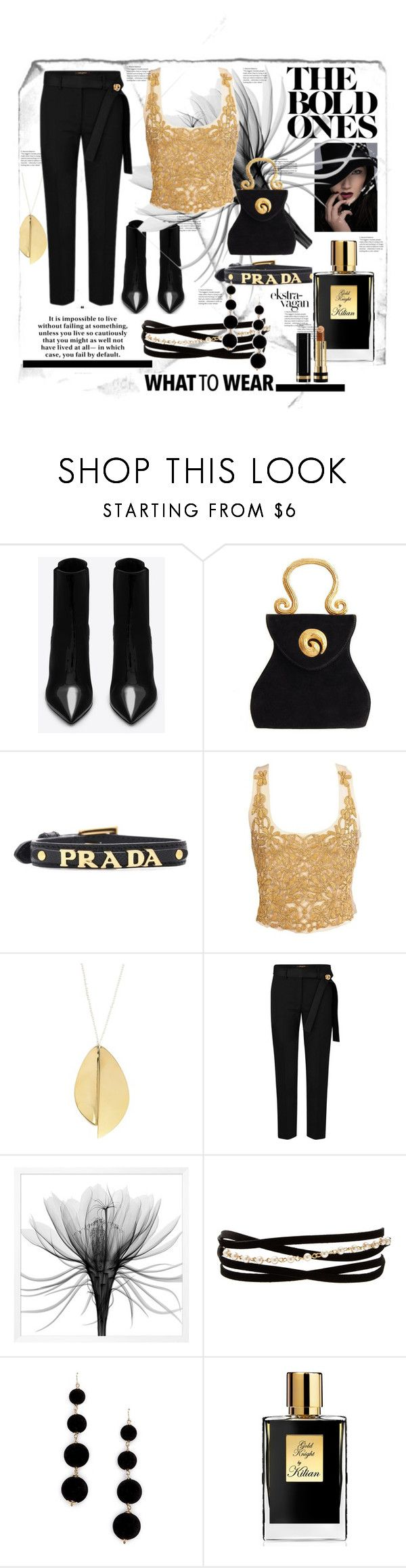 """""""style 193"""" by valerie-42 ❤ liked on Polyvore featuring Yves Saint Laurent, Edouard Rambaud, Prada, Kenneth Jay Lane, Forever 21, Kilian and Gucci"""