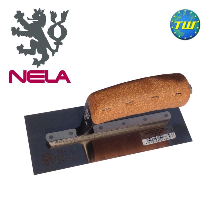 """http://www.twwholesale.co.uk/product.php/section/10327/sn/NELA-Midget-Trowel-8x3  NELA Trowels 8"""" x 3"""" Midget Trowel with BiKo Cork Grip Handle 10642008BK is fitted with a hardened stainless steel chrome blade for added flexibility and durability."""