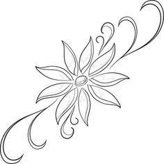 flores para dibujar faciles y bordar                                                                                                                                                      Más