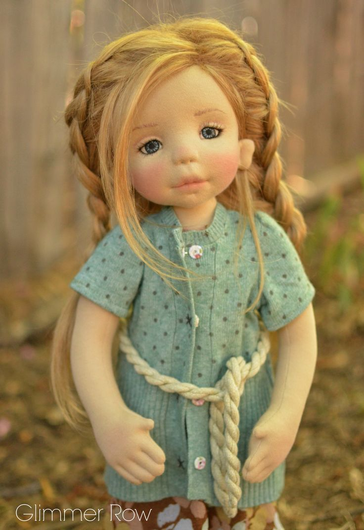 natural fiber art doll by Glimmer Row