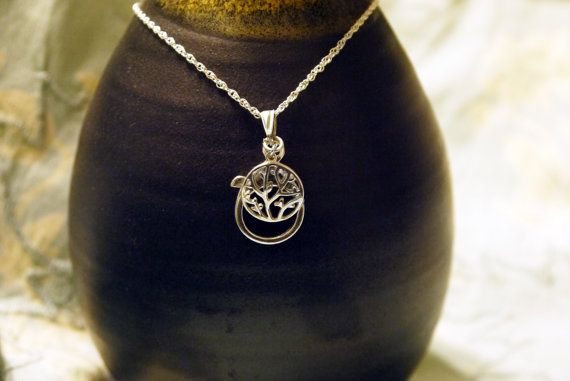 Sterling Silver Tree Of Life  Wedding Ring Holder Pendant