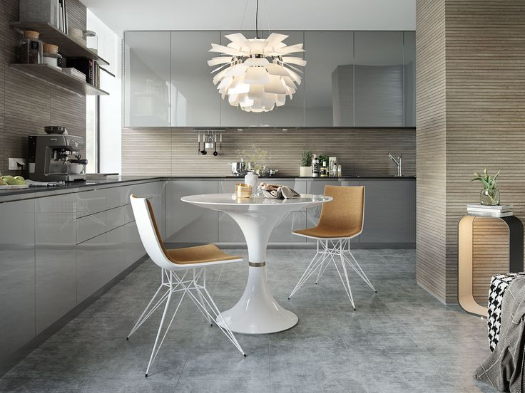 The Thin White Glass Top Of The Waterloo Table Drips Into A Tulip Shaped  Base
