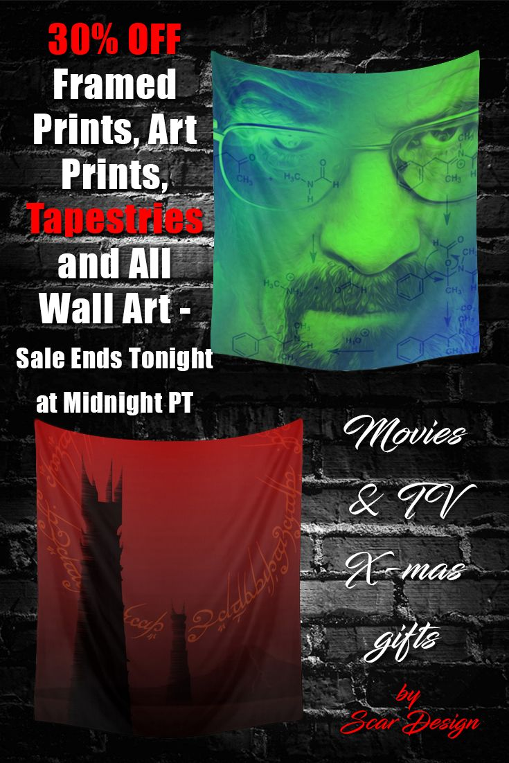 30% OFF all Wall Tapestries! Awesome X-mas gifts for All! #poster #society6 #homedecor #family #movieposter #metal #prints #onlineshopping #sales #discount #save #movies #film #cinema #popular #christmasgifts #xmasgifts #gifts #gaming #gamer #geek #scifi #breakingbad #series #tv #walltapestry #tapestry