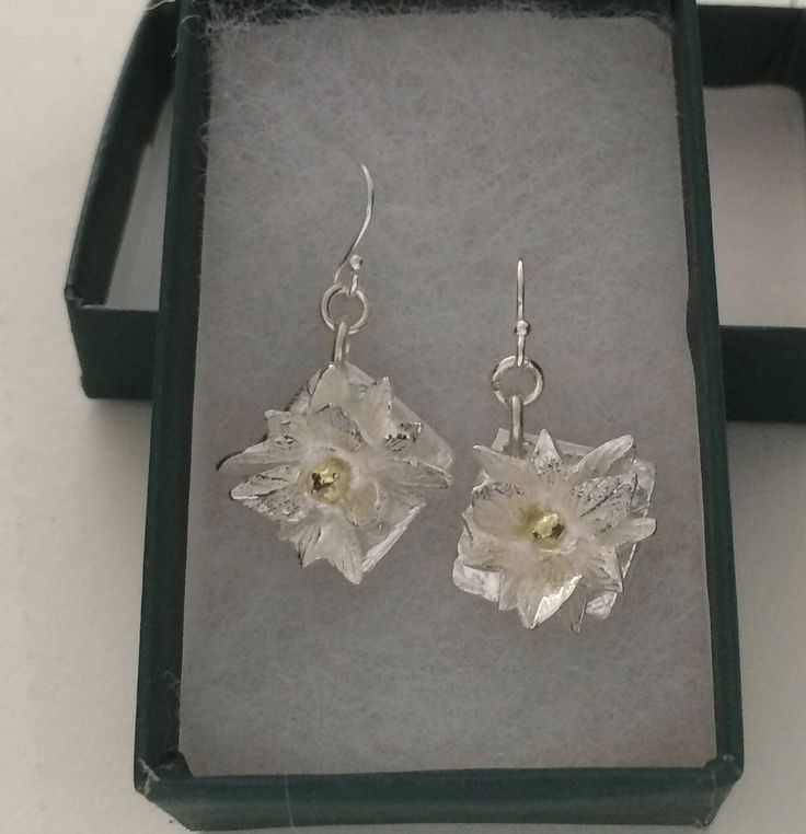 Romantic gift for her, flower earrings, silver jewelry, herbs, gift for chef, gift for gardener, bridesmaid gift, wedding jewelry by lynncobb on Etsy https://www.etsy.com/listing/266128735/romantic-gift-for-her-flower-earrings