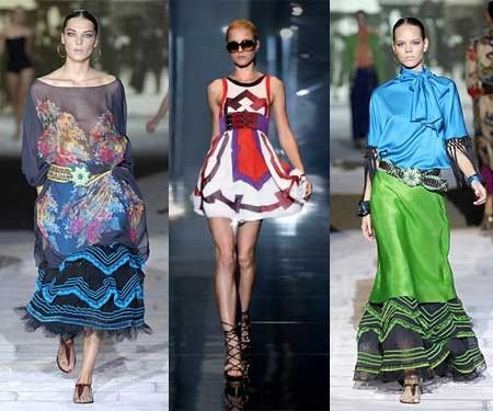 Mexican clothes on the runway.